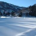 横畑・雪の田んぼ