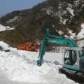 林道の除雪作業