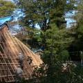 中ノ俣・屋根の工事